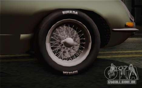 Jaguar E-Type 4.2 para GTA San Andreas traseira esquerda vista