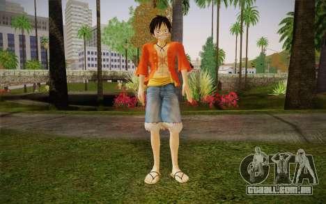 One Piece Monkey D Luffy para GTA San Andreas