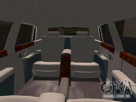 Rolls-Royce Phantom Limo para GTA San Andreas vista interior