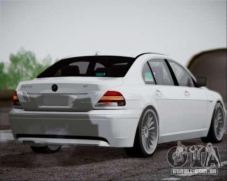 BMW Alpina B7 para GTA San Andreas vista direita