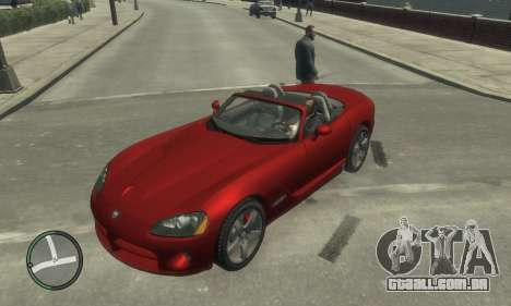 Dodge Viper SRT-10 2003 v2.0 para GTA 4 vista superior