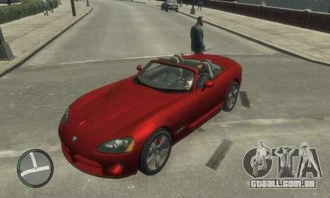 Dodge Viper SRT-10 2003 v2.0 para GTA 4 vista superior
