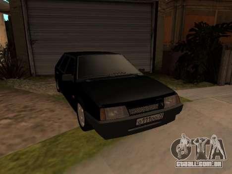 VAZ 2109 Gangster nove V 1.0 para GTA San Andreas vista interior