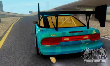 Nissan 240SX Blue Star para GTA San Andreas vista traseira