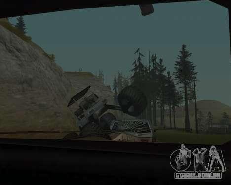 Caddy Monster Truck para GTA San Andreas vista traseira