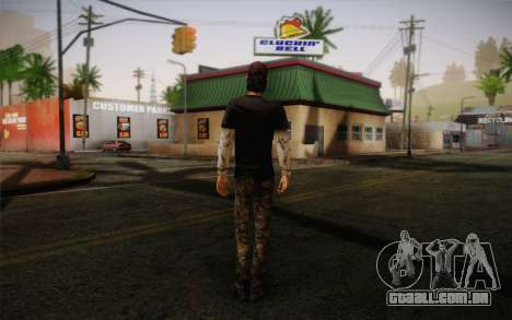 Nick из The Walking Dead para GTA San Andreas segunda tela