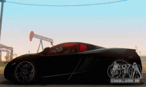 Mclaren MP4-12C Spider Sonic Blum para GTA San Andreas esquerda vista