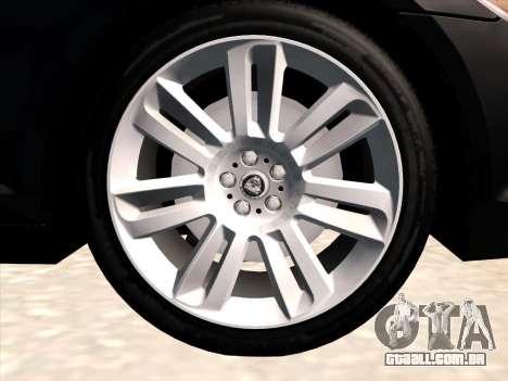 Jaguar XFR para GTA San Andreas vista interior