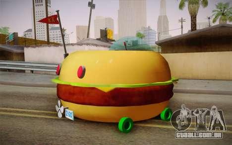 Spongebobs Burger Mobile para GTA San Andreas esquerda vista