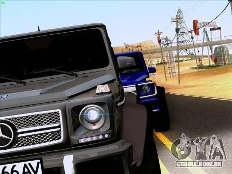 Mercedes-Benz G65 AMG 6X6 para GTA San Andreas vista traseira