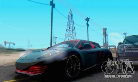 Mclaren MP4-12C Spider Sonic Blum para GTA San Andreas vista inferior