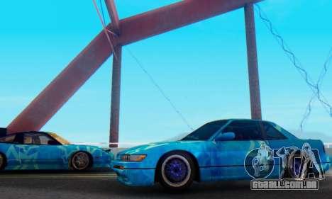 Nissan Silvia S13 Blue Star para GTA San Andreas esquerda vista