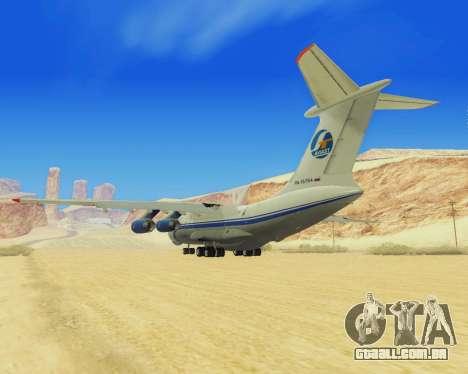 Il-76T AVAST para GTA San Andreas vista direita
