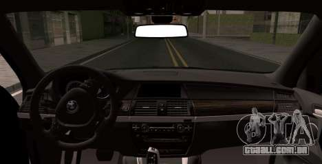 BMW X5M 2013 para GTA San Andreas traseira esquerda vista