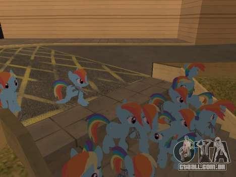 Rainbow Dash para GTA San Andreas por diante tela