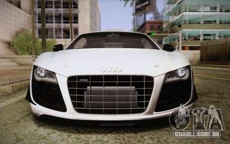 Audi R8 GT 2012 para vista lateral GTA San Andreas
