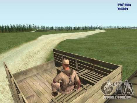 Afghanistan Soviet Soldiers para GTA San Andreas sexta tela