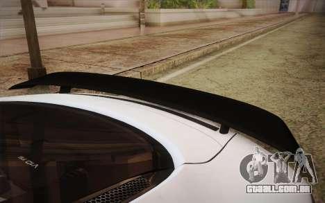 Audi R8 GT 2012 para GTA San Andreas vista traseira