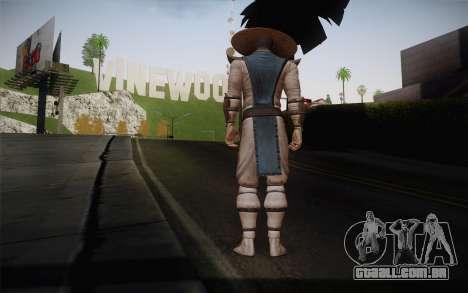 Raiden from Mortal Kombat 9 para GTA San Andreas segunda tela