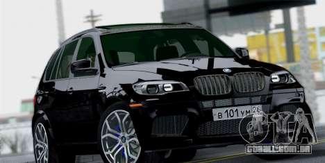 BMW X5M 2013 para GTA San Andreas vista direita