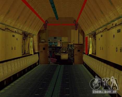 Il-76T AVAST para GTA San Andreas vista traseira