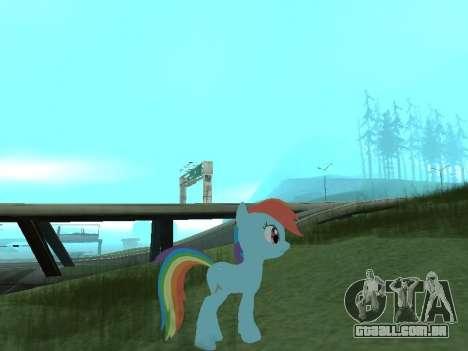 Rainbow Dash para GTA San Andreas segunda tela