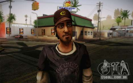 Nick из The Walking Dead para GTA San Andreas terceira tela