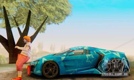 W-Motors Lykan Hypersport 2013 Blue Star para as rodas de GTA San Andreas