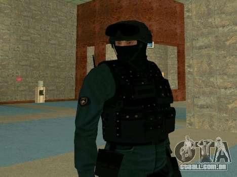 Pele SOBR para GTA San Andreas terceira tela