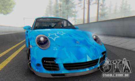 Porsche 911 Turbo Blue Star para GTA San Andreas esquerda vista