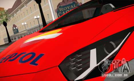 Lamborghini Aventador LP700-4 para vista lateral GTA San Andreas