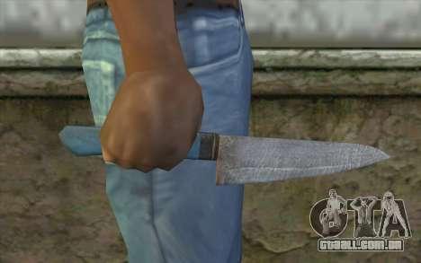 Antiga faca de cozinha para GTA San Andreas terceira tela