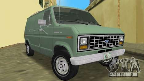 Ford E-150 1983 Short Version Commercial Van para GTA Vice City vista traseira