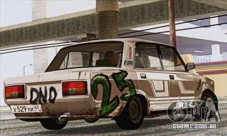 VAZ 2107 GVR para GTA San Andreas esquerda vista