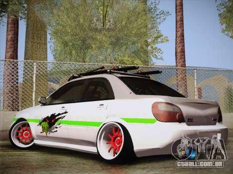 Subaru Impreza Hellaflush para GTA San Andreas esquerda vista
