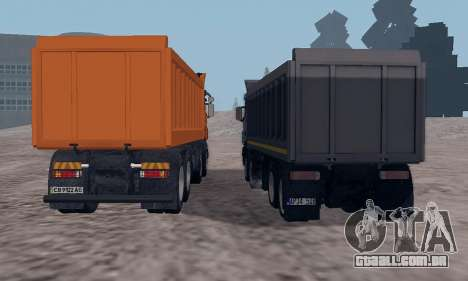 Scania P420 para GTA San Andreas vista interior