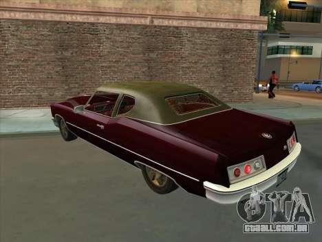 Yardie Lobo from GTA 3 para GTA San Andreas vista traseira