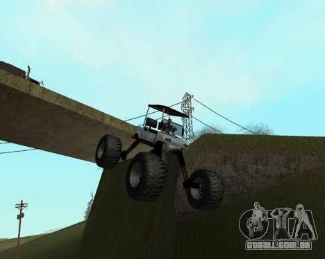 Caddy Monster Truck para GTA San Andreas traseira esquerda vista