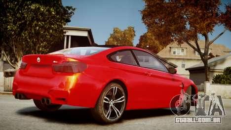 BMW M4 Coupe 2014 v1.0 para GTA 4 esquerda vista