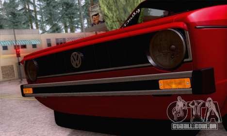 Volkswagen Golf Mk I 1978 para GTA San Andreas vista superior