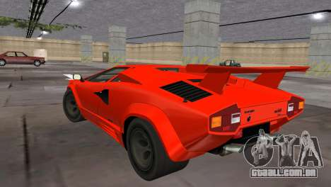 Lamborghini Countach LP5000 Extreme para GTA Vice City deixou vista