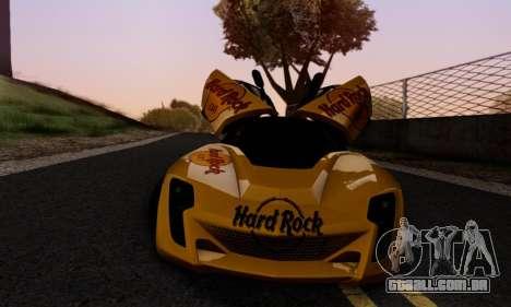 Bertone Mantide 2010 Hard Rock Cafe para GTA San Andreas vista inferior