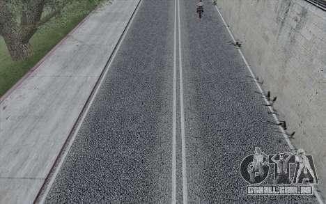 HD Roads 2014 para GTA San Andreas por diante tela