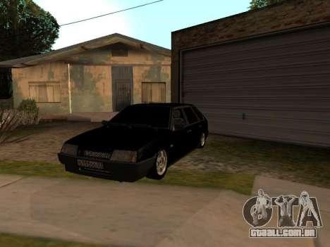 VAZ 2109 Gangster nove V 1.0 para vista lateral GTA San Andreas