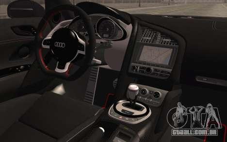 Audi R8 GT 2012 para GTA San Andreas vista direita