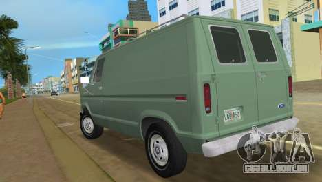 Ford E-150 1983 Short Version Commercial Van para GTA Vice City deixou vista