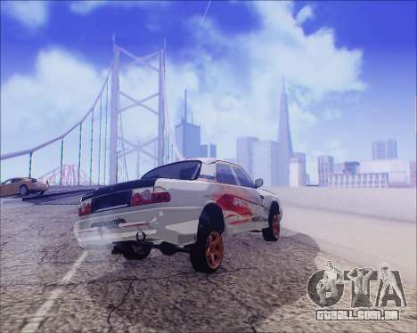 GAZ 31105 Tuneable para GTA San Andreas vista inferior