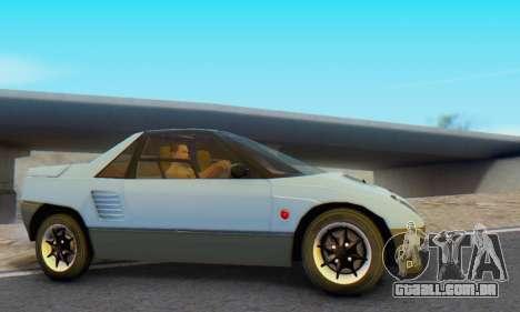 Mazda Autozam AZ-1 para GTA San Andreas traseira esquerda vista