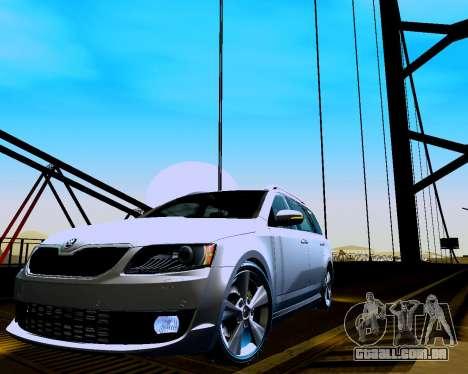Skoda Octavia A7 Combi para GTA San Andreas esquerda vista