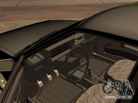 VAZ 2109 Gangster nove V 1.0 para GTA San Andreas esquerda vista